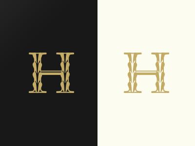 H identity logo mark typography type