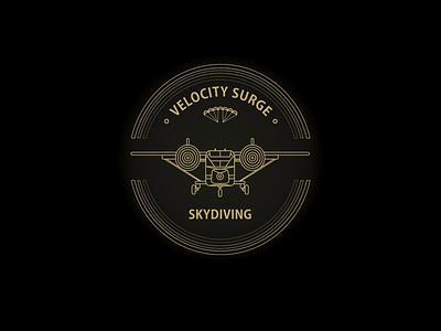Velocity Surge T Shirt airplane skyvan retro vintage geometrical parachute van mark t-shirt print