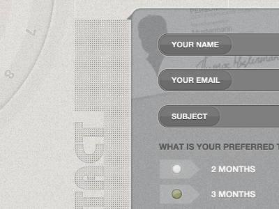 Contact Form form contact textures
