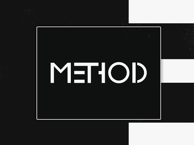 Dribbble Method Logo V1 typeface elegant simple clean typography bauhaus branding logo