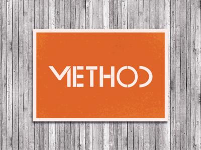 Dribbble Method Logo V2 custom typeface typeface elegant simple clean typography bauhaus branding logo