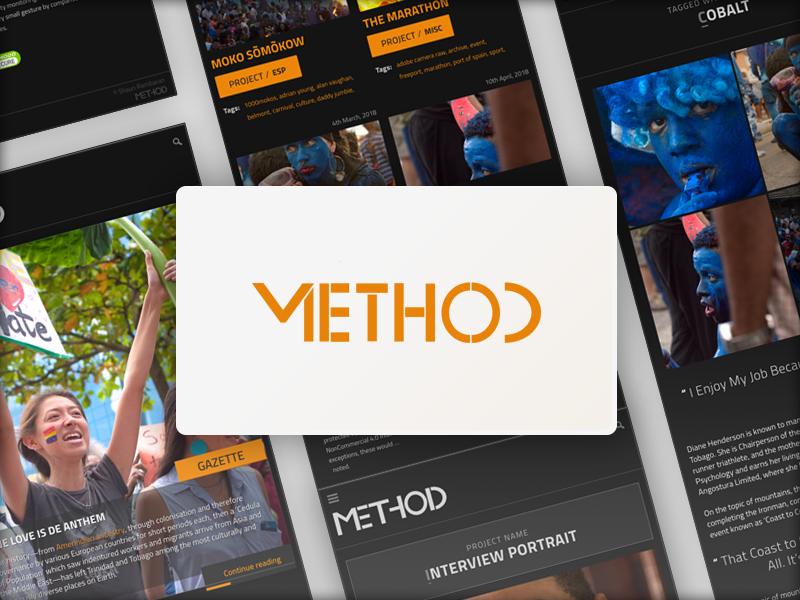 Dribbble method website ui ux desktop