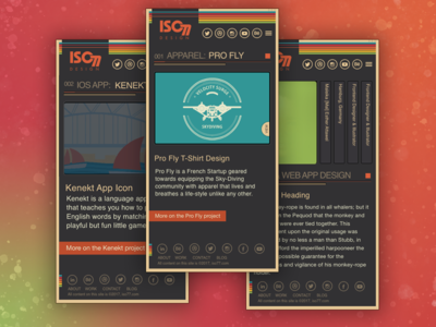 iso77 Responsive Mobile Gui (WIP) mobile ux ui cms elegant typography graphic design theme wordpress accessibility wcag web design