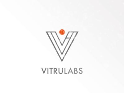 Vitrulabs Logo Concept (WIP) vitruvian man lettermark lettering illustration vintage typography ux branding vector logo bauhaus