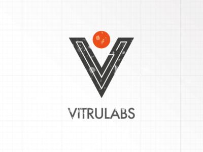 Vitrulabs Logo final branding typography illustration vintage design logo
