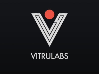 Vitrulabs Logo Final Dark Version accessibility contrast logomark mark illustration design vector branding bauhaus logo typography
