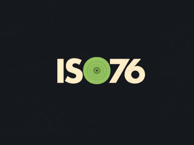 ISO76 Logo Concept 3b light on dark (contrast) geometric identity designer brand german identity vintage branding design logo illustration typography bauhaus