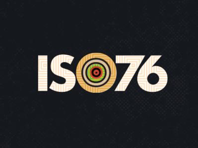 ISO76 Logo (final concept) contrast accessibility identity geometric caribbean african german typography logo vintage branding design illustration bauhaus