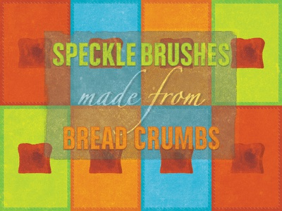 Photoshop Brush Set Made From a Toast — Freebie photoshop brushes vintage grunge speckles freebie download toast bread rockatee typography illustration