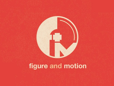 Figure & Motion (final) logo branding rockatee mark monogram bauhaus geometric minimalist svg retina
