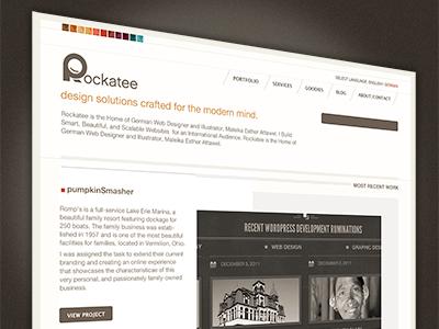 Rockatee Portfolio Redesign V3. rockatee gui responsive design expressionengine retina branding ui interface css3 minimalism
