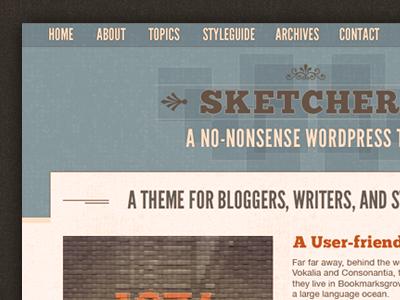 Sketchers - A no-nonsense WordPress theme (WIP) wordpress responsive rwd retina mobile-first layout header gui ui ux webfonts theme wp rockatee