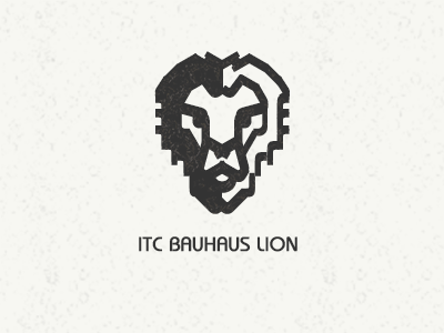 ITC Bauhaus Lion (made from Bauhaus letters) bauhaus type mark lion itc bauhaus font typography lettering rockatee