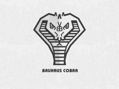 Bauhaus Cobra (made from ITC Bauhaus letters) bauhaus itc bauhaus font typography lettering minimalism geometric snake cobra illustration print graphic design rockatee