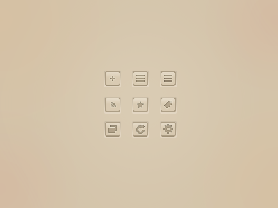 Mr Reader RSS App icons (revised and still a WIP) rockatee simple slick iconography ui gui read unread settings ipad apple app reset rss article folder icons glyphs
