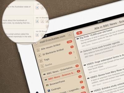 Mr Reader RSS App Theme Progress (WIP)