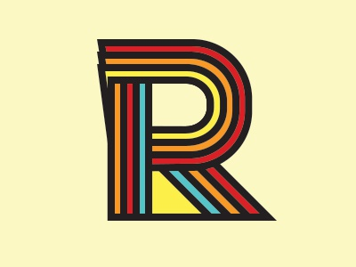 Rockatee Logo 2013 (WIP 2) r rockatee logo branding identity retro pop art mark monogram