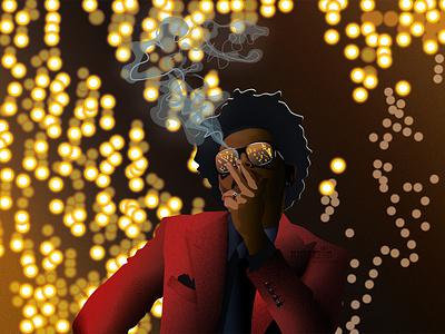 The weeknd chatacter illustration smoke weeknd theweeknd man character