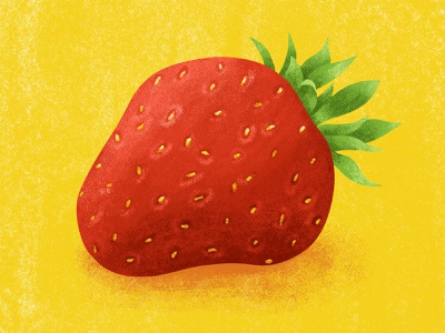 Strawberry strawberry illustration summery illustration summery summer strawberry food illustration food fruit illustration fruit fresco adobe fresco color digital painting illustration