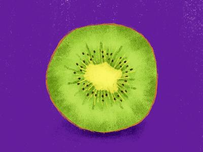 Kiwi food illustrator texture food illustration fruit illustration kiwi fruit fresco adobe fresco digital painting color illustration