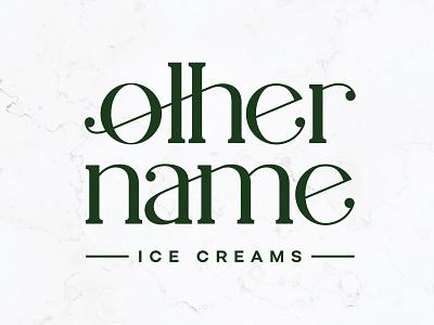 Other Name Ice Creams Logo ice cream pop culture tv schitts creek custom lettering lettering custom type type logo branding