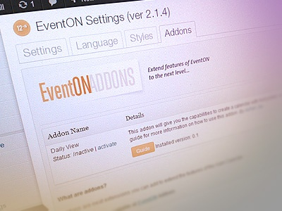 Addons for EventON