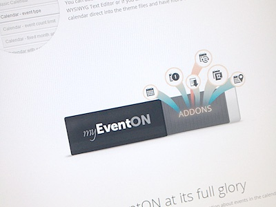 myEventON Addons graphic addons extensions wordpress plugin button