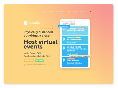 Host virtual events