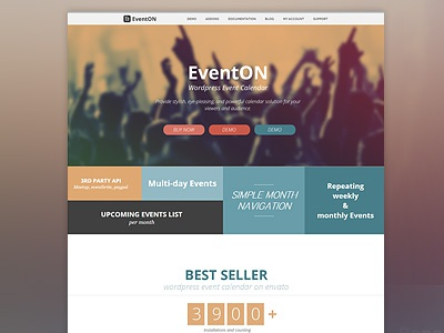 EventOn Site re-design
