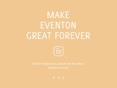 Make EventON Great Forever