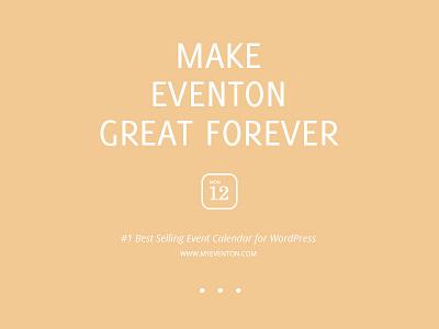 Make EventON Great Forever eventon