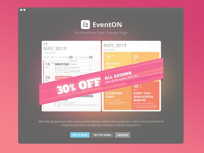 EventON Cyber Weekend