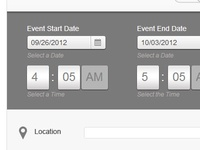 Event Calendar Backend UI