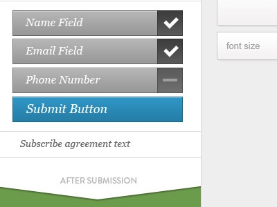 Form editor UI form editor fields submission