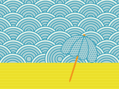 Sunbath sunbath beach umbrella lines circles colours dots summer relax chill out pictosis siouxsie
