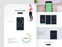 Weight Less App landing page