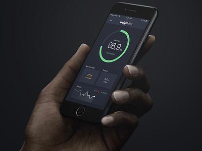 Weight Less iOS app weight flat ux ui ios app