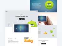Busy Suby iOS game - Landing page