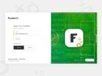 Login page - football App