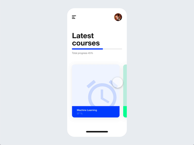 Education App product design prototype animation mobile madewithadobexd
