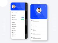 Profile & Menu Design - Mobile App