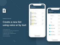 Shopping list with Voice - Mobile App