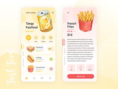 Fast Food Mobile App drink fastfood snacks ios app design android app design app design uiux designer uiux design uiux uikit ui design ux ui mobile app design mobile design mobile app mobile ui