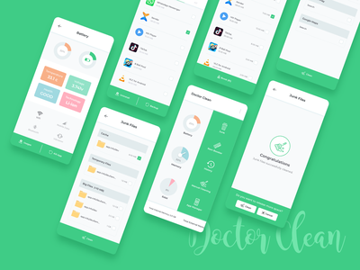 Doctor Clean Mobile App cache clean ux uiuxdesigner uiuxdesign uiux uikit ui design ui mobile app design mobile design mobile app mobile ui mobile ios app design ios app app design app android app design android app