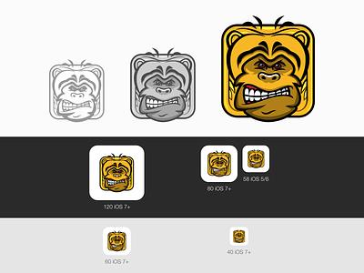 Monkey Runner Game Icon iconography icon design game art game logo icon design branding animal