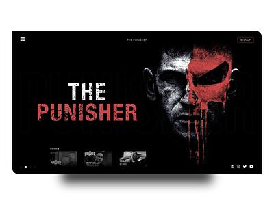 The Punisher Web Design website design website webpage web design webdesign web ux ui design ui series the punisher landing page design design