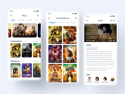 Movic App Design home media menu welcome movie app movies mobile ui app