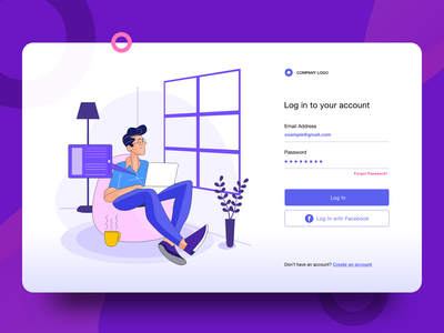 Login Page Ui Exploration vector ui  ux typography space social sign up sign in password modern minimal logo login screen login page login form login interaction gradient email color clean ui