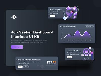 Jobseeker Web Design interaction ux design webdesign web website design website uiux ui cards ui jobsite jobseeker job application job career app cards adobe xd