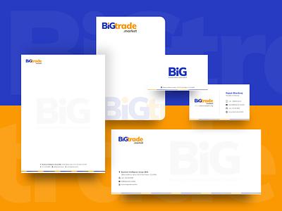 Bigtrade.market Logo Branding Kit logos logo design logotype minimal flat web icon typography vector branding logo